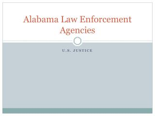 Alabama Law Enforcement Agencies