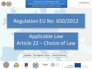 Regulation EU No. 650/2012