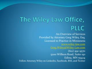 The Wiley Law Office, PLLC