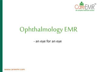 Ophthalmology healthcare solutions