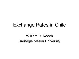 exchange rates in chile