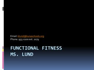 Functional Fitness Ms. Lund