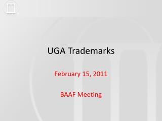 UGA Trademarks