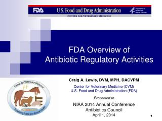 FDA Overview of  Antibiotic Regulatory Activities