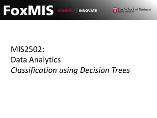 MIS2502: Data Analytics Classification using Decision Trees
