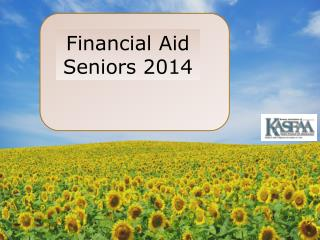 Financial Aid Seniors 2014