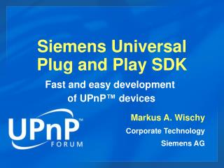 siemens universal  plug and play sdk