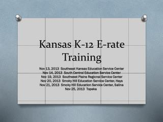 Kansas K-12 E-rate Training