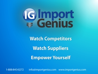 Watch Competitors Watch Suppliers Empower Yourself