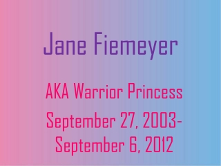 Jane Fiemeyer