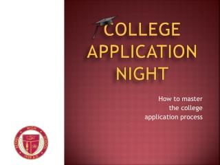 College Application Night