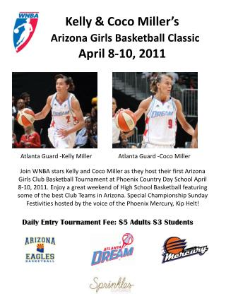 Kelly & Coco Miller's Arizona Girls Basketball Classic April 8-10, 2011