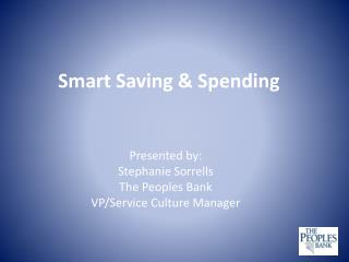 Smart Saving & Spending