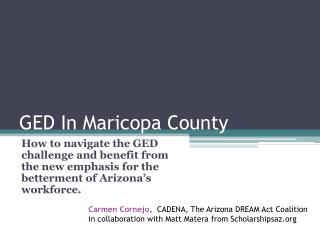 GED In Maricopa County