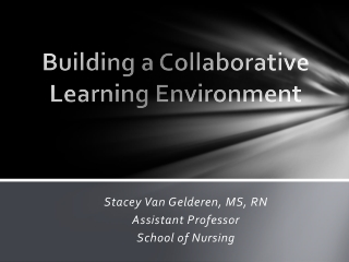 Building a Collaborative Learning Environment