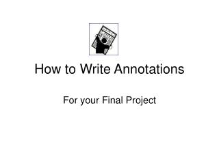 how to write annotations