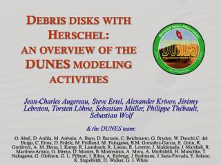 Debris disks  with Herschel : an overview of the DUNES modeling activities