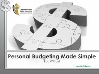 Personal Budgeting Made Simple