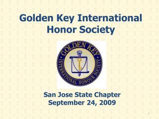 Golden Key International Honor Society