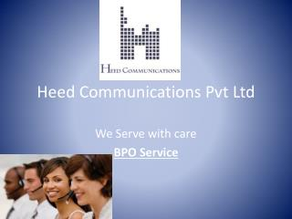 Heed Communications  Pvt  Ltd