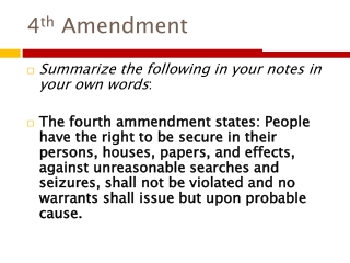4 th  Amendment