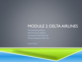 Module 2: Delta Airlines