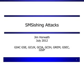 SMSishing Attacks
