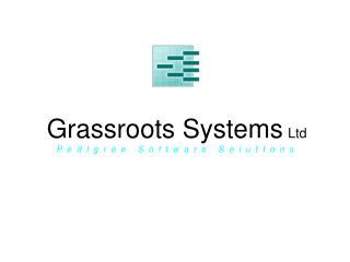 grassroots systems ltd   p  e  d  i  g  r  e  e     s  o  f  t  w  a  r  e     s  o  l  u  t  i  o  n  s