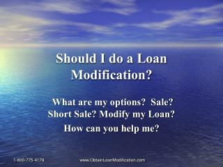 Loan Modification Presentation