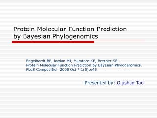 protein molecular function prediction by bayesian phylogenomics