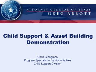 Child Support & Asset Building Demonstration