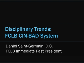 Disciplinary Trends: FCLB CIN-BAD System