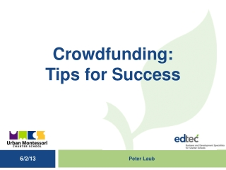 Crowdfunding :  Tips for Success