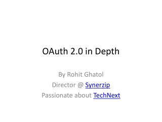 OAuth 2.0 in Depth