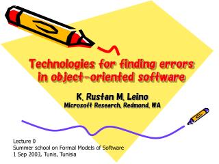technologies for finding errors in object-oriented software