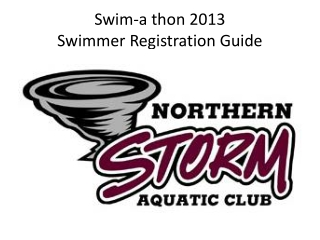 Swim-a thon 2013 Swimmer Registration Guide