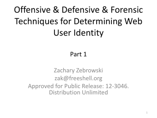 Offensive & Defensive & Forensic Techniques for Determining Web User Identity Part 1