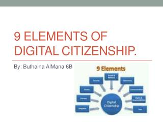 9 elements of digital citizenship.