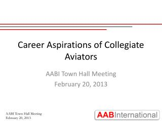 Career Aspirations of Collegiate Aviators
