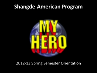 Shangde -American Program