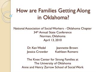 How are Families Getting Along in Oklahoma?