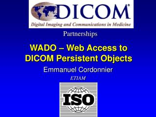 wado   web access to dicom persistent objects