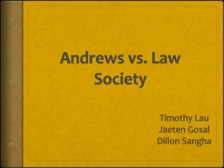 Andrews vs. Law Society