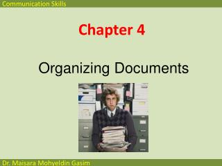 Chapter  4 Organizing  Documents
