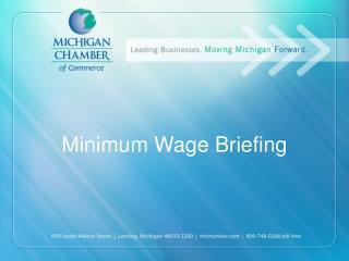 Minimum Wage Briefing
