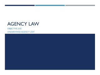 Agency Law