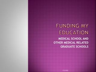 funding MY EDUCATION