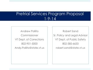 Pretrial Services Program Proposa l 1-9-14