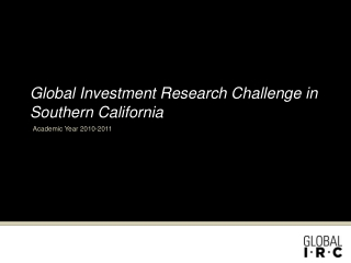 Global Investment Research Challenge in Southern California