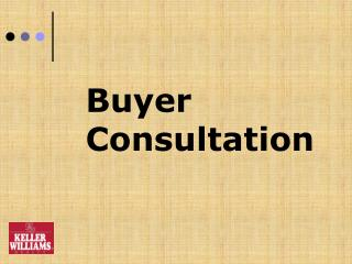 Buyer  Consultation